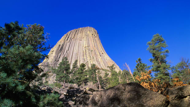 02 Nov 2005, Devil's Tower National Monument, Wyoming, USA — Devil's Tower National Monument — Image by © Bilderbuch/Design Pics/Corbis