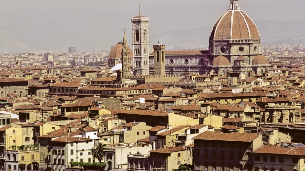 Basilica di Santa Maria del Fiore (Duomo) as seen from Piazza Michelangelo,Florence, Italy. (Photo by Independent Picture Service/UIG via Getty Images)