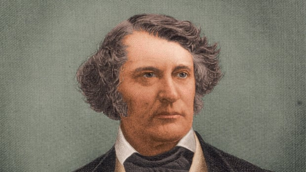 circa 1865:  Charles Sumner (1811-1874). American politician. Member, US Senate 1851-74, his position as a leading opponent of slavery in Congress brought a physical attack by Rep. Preston S. Brooks of South Carolina in 1856, which left Sumner with permanent injuries. Chairman, committee on foreign affairs, US Senate 1861-71, persuaded Lincoln to release Mason and Slidell in the Trent Affair 1861. A leader in impeachment of Andrew Johnson 1871.  (Photo by Stock Montage/Stock Montage/Getty Images)