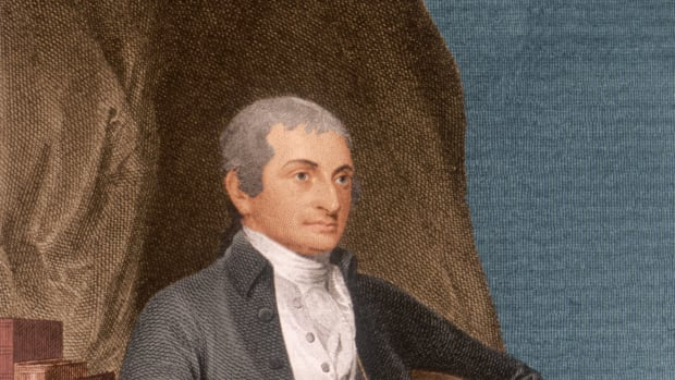 circa 1800:  John Jay (1745-1829). American jurist and statesman, delegate, Cont'l. Congress 1774-79, president of Congress '78-79. Drafted NY state constitution '77, negotiated Treaty of Paris with Franklin and others 1782-83. US sec'y. of foreign affairs 1784-89. Wrote 'The Federalist Papers' with Madison and Hamilton explaining US Constitution 1787-88, negotiated Jay's Treaty with Britain 1794-95, chief justice, US Supreme Court 1789-95.  (Photo by Stock Montage/Stock Montage/Getty Images)