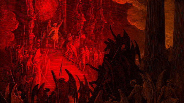 paradise-lost-satan-in-council-engraving-by-gustave-dor