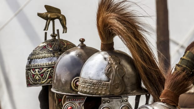 helmets-in-a-warrior-camp-celtic-civilization