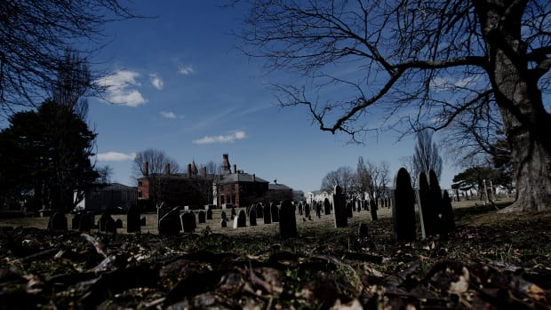 SALEM, MA – MARCH 30: An overall shot of the cemetery on Bridge Street that has been closed off by the Department of Public Works, after they cleaned it from debris, in Salem, MA on Wednesday, March 30, 2011. Residents have complained that they no longer have access to the cemetery, where they used to take walks and walk their dogs. (Photo by Yoon S. Byun/The Boston Globe via Getty Images)