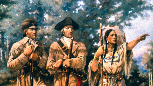 lewis-and-clark-1805-with-sacagawea-at-three-forks-of-the-missouri