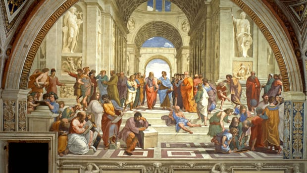 rafael-sanzio-da-urbino-april-6-or-march-28-1483-april-6-1520-the-school-of-athens-or-scuola-di-atene-in-italian-is-one-of-the-most-famous-paintings-by-the-italian-renaissance-artist-raphael