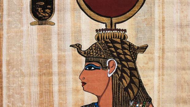 cleopatra-vii-papyrus-reconstruction-of-a-relief-from-the-temple-of-kom-ombo-original-dating-back-to-ptolemaic-period-egyptian-civilisation