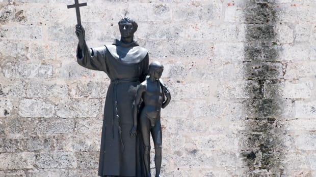 junipero-serra-religious-statue-in-the-saint-francis-of