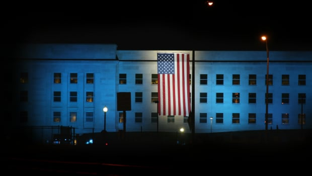 pentagon_blue_lights