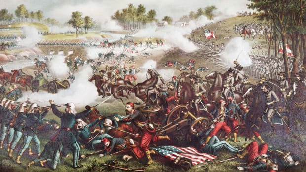 lithograph-of-the-first-battle-of-bull-run