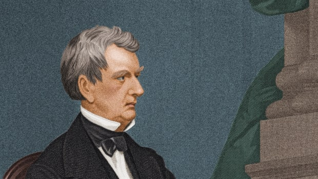 Engraved portrait of American politician William Henry Seward  (1801 – 1872), mid 1800s. During his term as US Secretary of State (1861 – 1869), he negotiated the purchase of Alaska by the United States from Russia. (Photo by Stock Montage/Getty Images)
