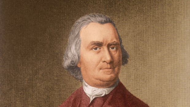 circa 1780:  Samuel Adams (1722-1803). American Revolutionary patriot, political agitator. With passage of the Stamp Act 1765, organized the Sons of Liberty. After passage of the Tea Act of 1773, presided over an all day meeting December 16, after which the 'Boston Tea Party' took place. Attended First Continental Congress 1775; elected to Second Cont'l. Congress; signed Declaration of Independence 1776, governor of Massachusetts 1794-97.  (Photo by Stock Montage/Stock Montage/Getty Images)