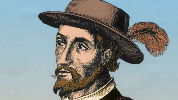 Juan Ponce de Leon (1460-1521) was a Spanish explorer. He went with Christopher Columbus on his second voyage to America (1493). In 1513, Ponce de Leon set out for America in search of the fabled Fountain of Youth and discovered what is now named Florida.
