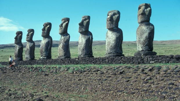 The Moai of Easter Island is believed by some ancient alien theorists to be evidence of extraterrestrial influence in the ancient world.
