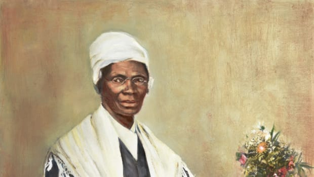 ca. 1864-1899 — Illustration of Sojourner Truth after a Photograph — Image by © Bettmann/CORBIS