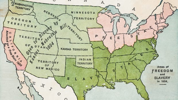 united states, 1854, slave states, free states, kansas-nebraska act, the battle over slavery, black history