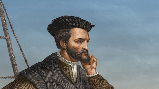 Circa 1540, French navigator Jacques Cartier (1491 – 1557), who made three exploratory journeys to North America and sailed up the St Lawrence River in Canada as far as Montreal. (Photo by Stock Montage/Getty Images)