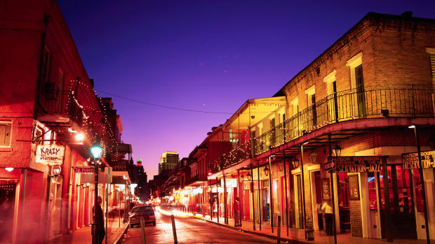French Quarter, New Orleans, Louisiana, USA — Bourbon Street in New Orleans — Image by © W. Cody/CORBIS