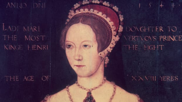 1544, Mary Tudor (1516 – 1558), the daughter of Henry VIII and Catherine of Aragon, at the age of 28. Following the death of her half-brother Edward VI and the brief rule of Lady Jane Grey, she ascended to the English throne as Queen Mary I in 1553. (Photo by Hulton Archive/Getty Images)