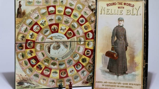 McLoughlin Bros., Round the World with Nellie Bly, 1890.