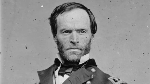 Major General William T. Sherman, circa 1860s. (Credit; The Library of Congress)