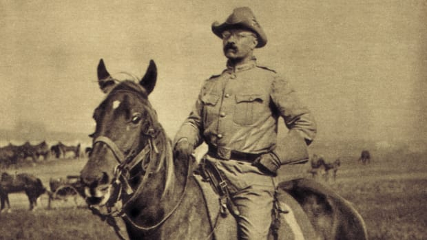 Colonel Theodore Roosevelt of the Rough Riders, 1898.