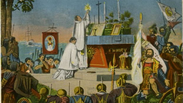 Celebration of mass in 1565