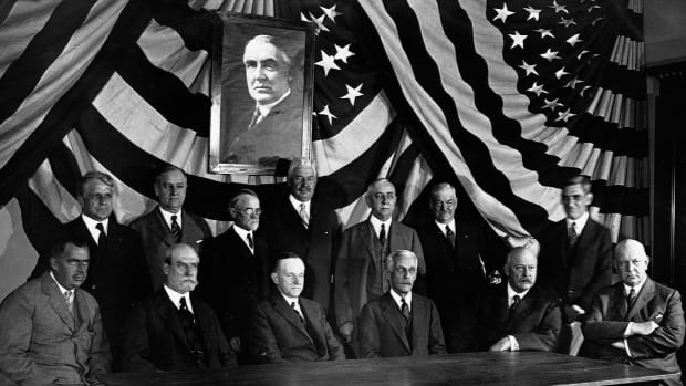 President Calvin Coolidge and Warren G. Harding's Cabinet