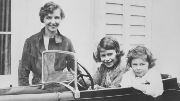 Marion Crawford with Princess Elizabeth and Princess Margaret