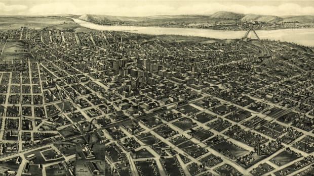 Map of Tulsa; Greenwood Black Wall Street