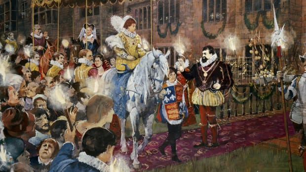 Queen Elizabeth I visiting Robert Dudley Earl of Leicester