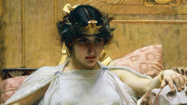 Cleopatra, painted in 1888, by John William Waterhouse