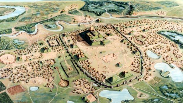 Painting of the Cahokia Mounds