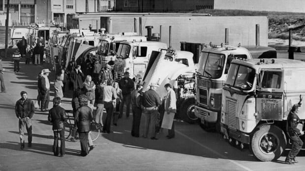 Truckers on strike