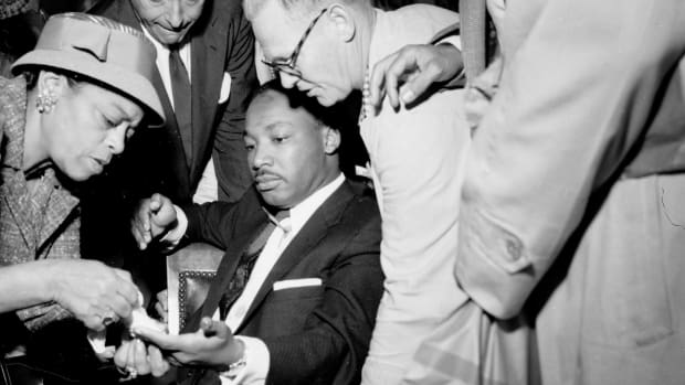 Martin Luther King, Jr. after being stabbed