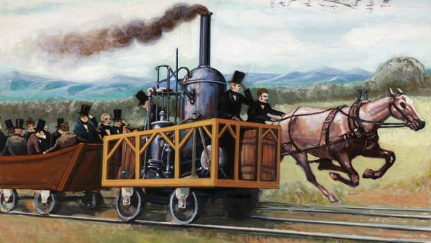 Horse racing locomotive