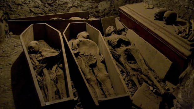 Mummies in coffins