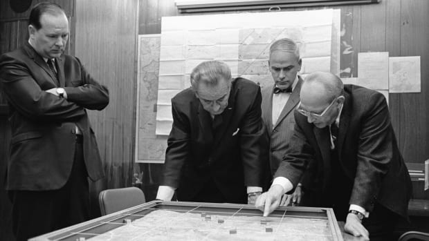 LBJ in the White House Situation Room