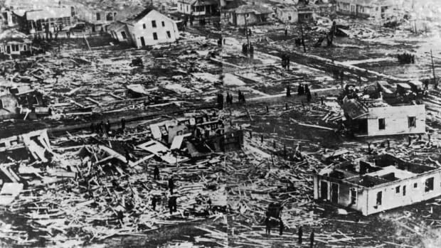 Destruction from the 1925 Tornado