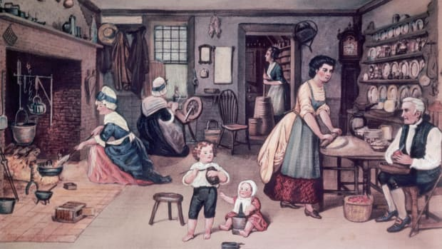 Colonial America, kitchen