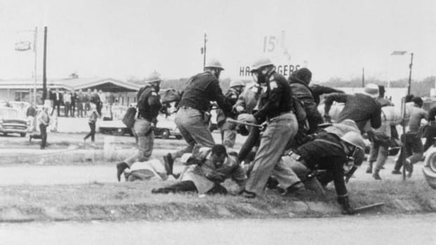 John Lewis during Selma 'Bloody Sunday'