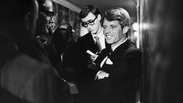 This Day In History: RFK is Shot, Senator Robert Kennedy pictured at the Ambassador Hotel in Los Angeles, California, on June 5, 1968 before he died
