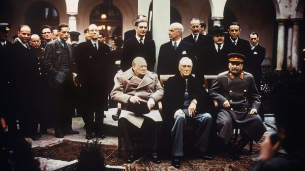 The Big Three at the Yalta Conference, 1945