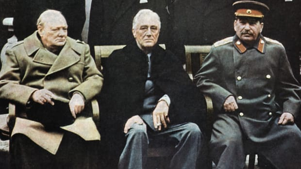 The Big Three of WWII: Winston Churchill, Franklin D. Roosevelt, Joseph Stalin