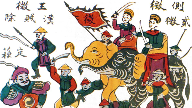 How Two Vietnamese Sisters Led a Revolt Against Chinese Invaders—in the 1st Century, Trung Trac and Trung Nhi