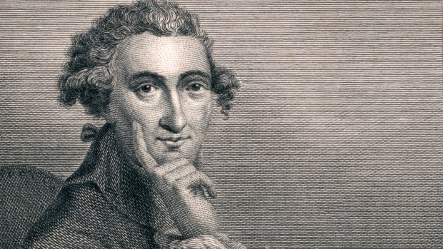 """Vintage portrait of Thomas Paine (1737-1809), an English-born American political activist, philosopher, political theorist, and revolutionary whose """"Common Sense"""" and other writings influenced the American Revolution, and helped pave the way for the Declaration of Independence."""