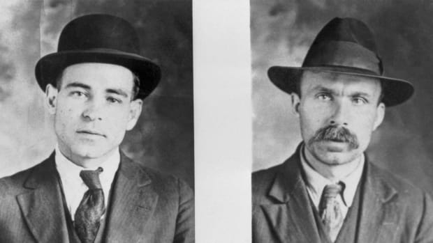 Nicola Sacco and Bartolomeo Vanzetti, executed in 1927 for murder of payroll messenger.