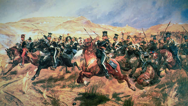 Charge of the Light Brigade, Balaclava, 25 October in 1854. Crimean War