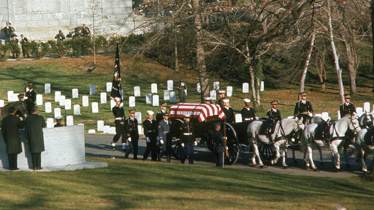 JFK buried at Arlington National Cemetery