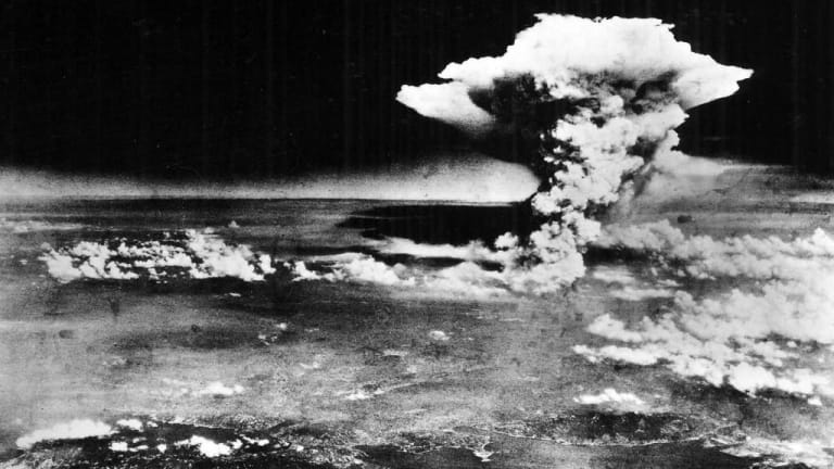 American bomber drops atomic bomb on Hiroshima