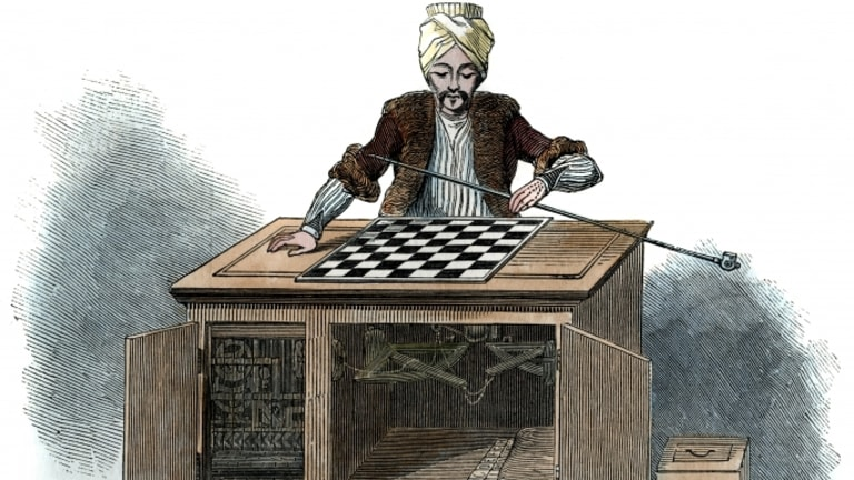 Image result for ancient robot chess player